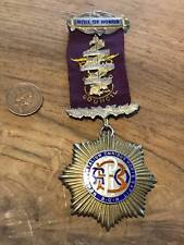 Masonic roll of honour silver hallmarked grand council
