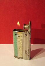 Altes IMCO STREAMLINE 6800 Benzinfeuerzeug grün und gelb Brennt!