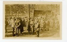 """""""Our Outdoor Schoolroom"""" Antique Army RPPC Military Photo WWI-Era 1910s"""