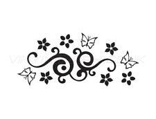 Butterfly Swirl Design Wall Sticker