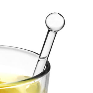 Glass Stirring Rods - Set of 6 - Glass Drinks Stirrers Cocktail Stirrers