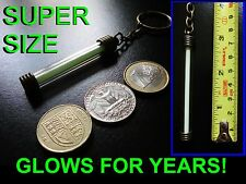 GLOWS NON STOP FOR DECADES!! Tritium Key Chain / Keyring / Glow In The Dark GITD