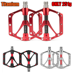 Promend Bicycle Titanium Pedal MTB Road Bike Pedals CNC 6 Sealed Bearings 251g