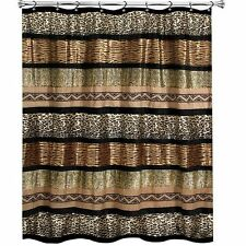 Gazelle FABRIC SHOWER CURTAIN safari animal print  POPULAR BATH leopard zebra..
