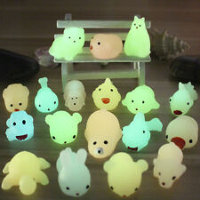 1x Luminous Mochi Animal Glow In Dark Squishy Squeeze Abreact Toy Stress Reducer