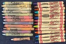 New listing Vtg Retired Discontinue Rare Crayons Crayons 12 Silver Swirls 14 Star Brites Lot