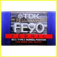 Musicassetta vergine TDK Ferric FE90 Type I IEC I. Cassetta nuova 90 minuti.