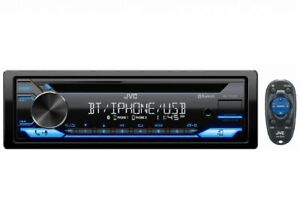 JVC KD-T711BT 1-DIN CD BLUETOOTH USB AUX PANDORA IPHONE CAR STEREO RECEIVER