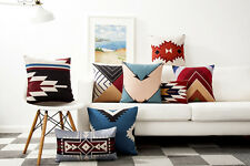 Aztec geometric triangles arrows square Cushion Cover home car decor pillow Case