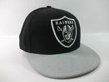 Raiders NFL 59Fifty Hat New Era Black Gray 7 1/4 Fitted Fullback Baseball Cap