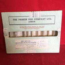 Vintage The Parker Per Company Ltd London Salesman Box For 10 Pens