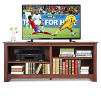 "58"" TV Stand Entertainment Media Center Console Wood Storage Furniture w/ Shelf"
