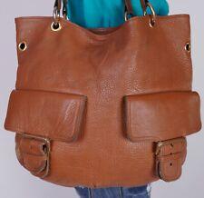 EXTRA LARGE Brown Leather Shoulder Hobo Tote Satchel Purse Bag