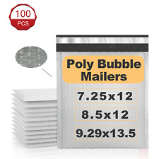 100pc Poly Mailers Bubble Bags Mailer Padded Envelope Bag Self Seal