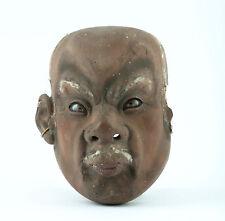 Antike No Theater Maske Japan Edo um 1850 Original Lackarbeit Holz