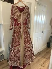 Indian Bridal lengha - Red & Gold Size 10-12