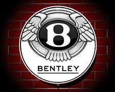 BENTLEY LED 600mm illuminato GARAGE APPLIQUE luce da parete auto emblema stemma
