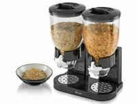 Cereal Dispenser,Dry Food Pasta Double Storage Machine for Home Kitchen Counter