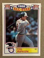 Topps 1989 #5 Glossy 1988 All-Star Cal Ripken - Baltimore Orioles