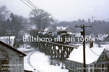 Boston & Maine RR 1122  Hillsboro NH  Jan 1969