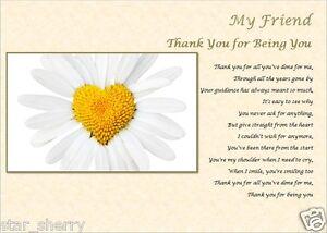 FRIEND GIFT (Laminated poem)