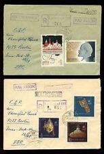 RUSSIA REGISTERED 1965 MULTI FRANKINGS LENINGRAD...3 COVERS