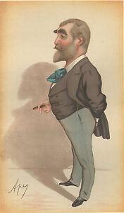 1881 Original Vanity Fair Imprimé ~ Poinçonné Monsieur FC Burnand ~ Ape