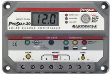 Morningstar ProStar 12v / 24v 30A Solar Charge Controller with Digital Meter
