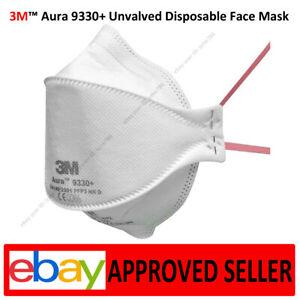 3M 9330+ Face Mask Protection Aura Healthcare Respirator Unvalved Disposable