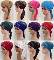 Women Head Wrap Turban Scarf Bonnet Cap Beanie Muslim Chemo Cancer Hijab Hat Cap
