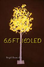 6.6 Feet LED Christmas Tree Ginkgo 160LED Warm Light Home Garden Winter Decro