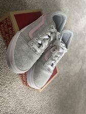 Vans Ward Girls' Skate Shoes Grey/Pink Size 3