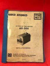 1975 Narco AR-500 Altitude Reporter Installation Manual 03725-0620