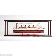 """Display Case for Model Ocean Liner 40"""" Wooden Display Case for Ship Model"""