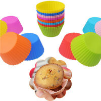 6pcs Round Soft Silicone Cake Muffin Chocolate Cupcake Liner Baking Cup Mold ON