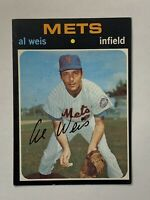 1971 Topps #751 Al Weis SP High # EXMT New York Mets