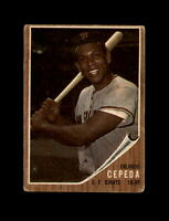 1962 Topps Baseball #40 Orlando Cepeda (Giants) GD/VG