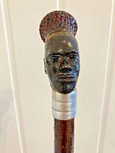 Beautiful,wooden hazel Thumb Walking Stick/Cane.handcraft.125 cm