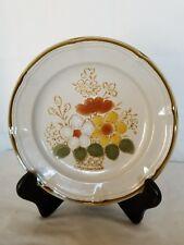 """Vintage Design Two Stoneware 7 5/8"""" Ferndale Floral 1522 SALAD PLATE L@@K"""