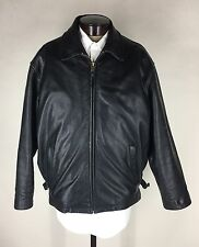 Marc New York Leather Bomber Jacket Removable Lining Black Men's XL