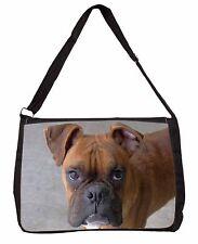 Red Boxer Dog Large Black Laptop Shoulder Bag School/College, AD-B22SB