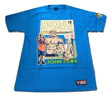 John Cena THROWBACK U CAN'T C ME Never Give Up Blue WWE Authentic T-Shirt NEW