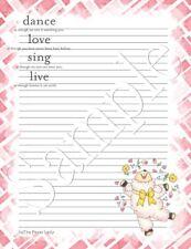 U042/Dancing Sheep stationery writing paper set