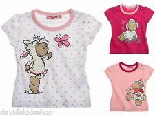 Nici Süßes Baby Shirt Kurzarm Mädchen Schäfchen pink rosa weiß Gr 62 68 80 86 92