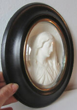 Cornice ovale Napoleone III - scultura in caolino - arte sacra- Madonna