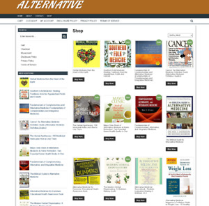 ALTERNATIVE MEDICINE WEBSITE WITH NEW DOMAIN - 1 YEARS HOSTING - EASY TO RUN