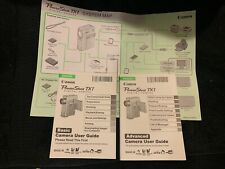 NEW ORIGINAL Canon PowerShot TX1 Instruction Manual Set (English)