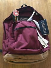 """JanSport RIGHT PACK 18x13x8.5"""" Backpack RUSSET RED Laptop Sleeve NEW w TAGS"""