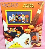 McCalls Goodies & Goblins Cross Stitch Chart Leaflet Halloween Trick or Treaters