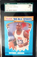 1990-91 Fleer #5 Michael Jordan All Star SGC 88